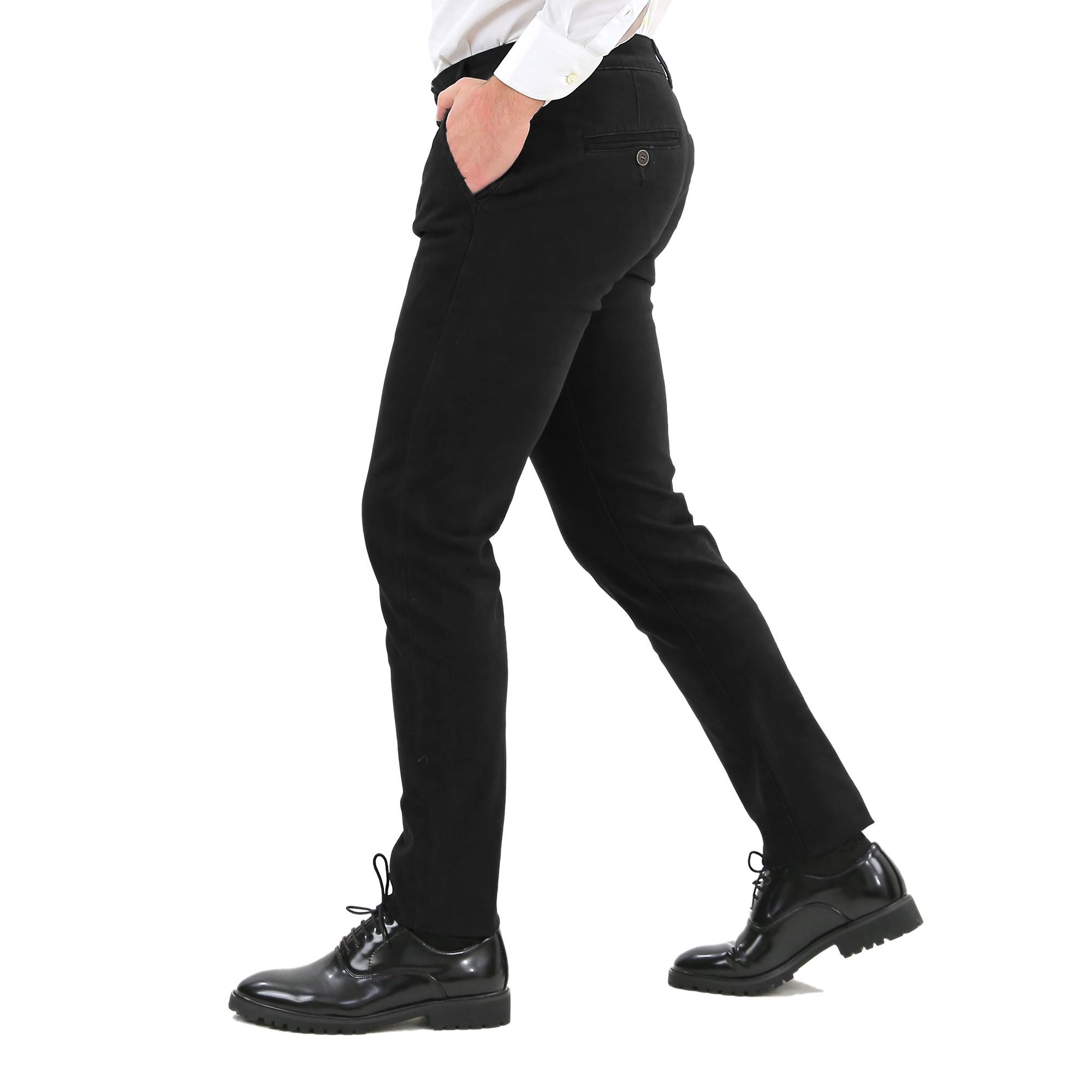 Pantaloni-Uomo-Slim-Fit-Eleganti-Invernali-Cargo-Classico-Chino-Kaki-Tasca-Ameri miniatura 6