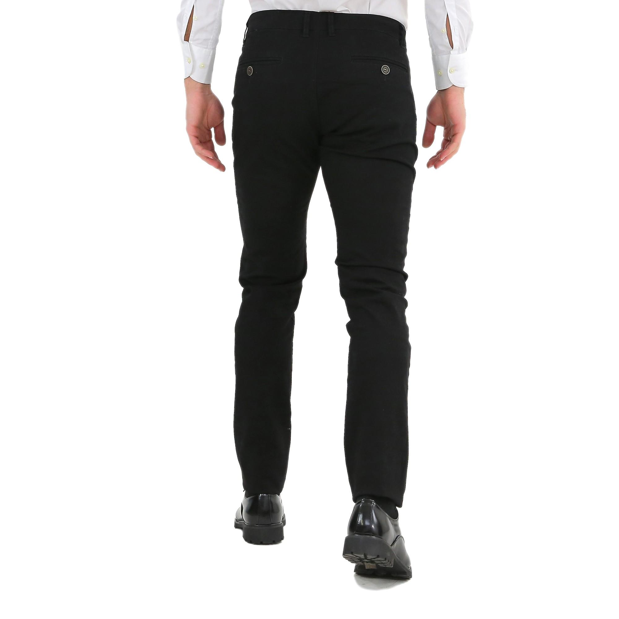 Pantaloni-Uomo-Slim-Fit-Eleganti-Invernali-Cargo-Classico-Chino-Kaki-Tasca-Ameri miniatura 7