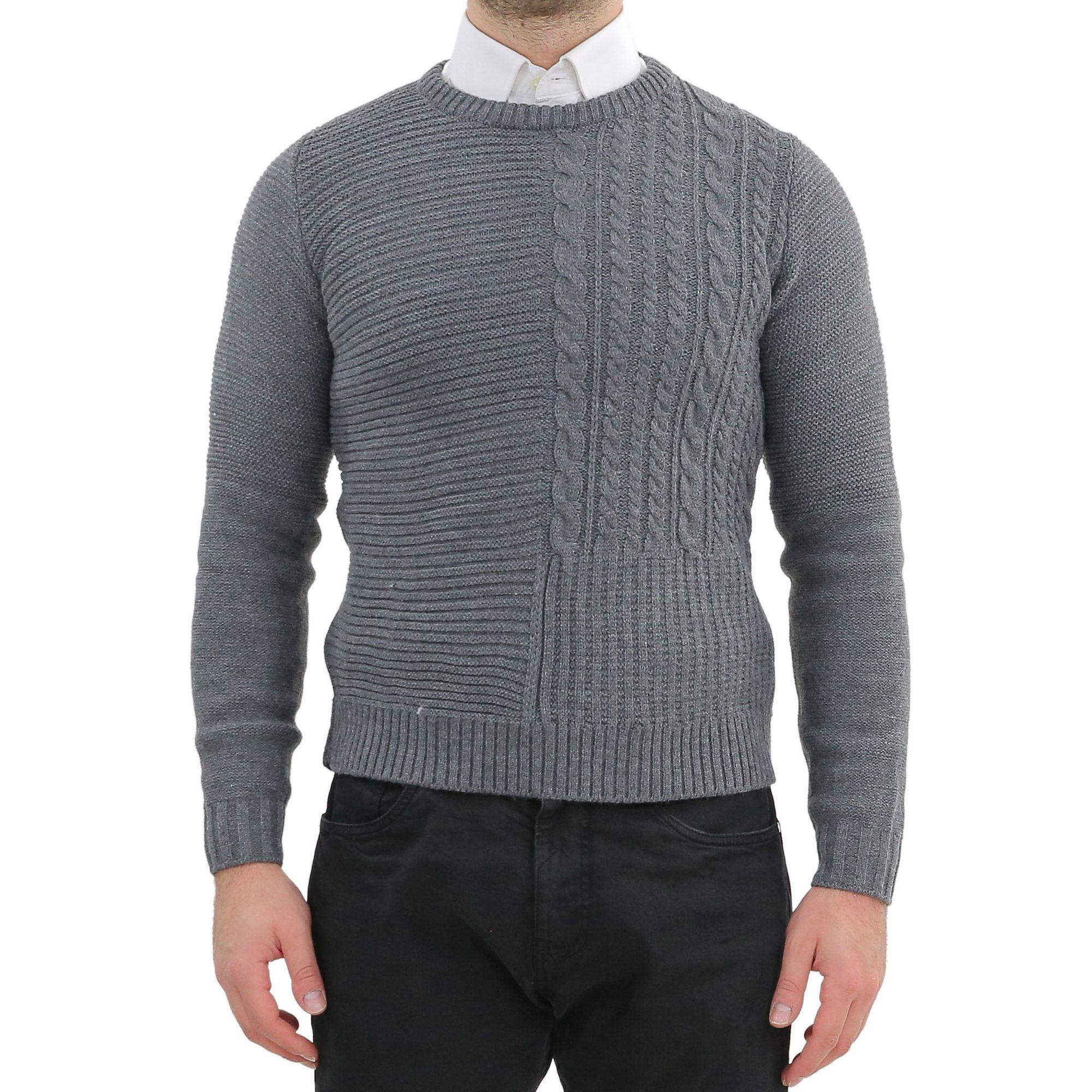 Ciabal/ù Maglione Uomo Invernale Girocollo Lana e Cashmere Maglioncino Pullover Elegante