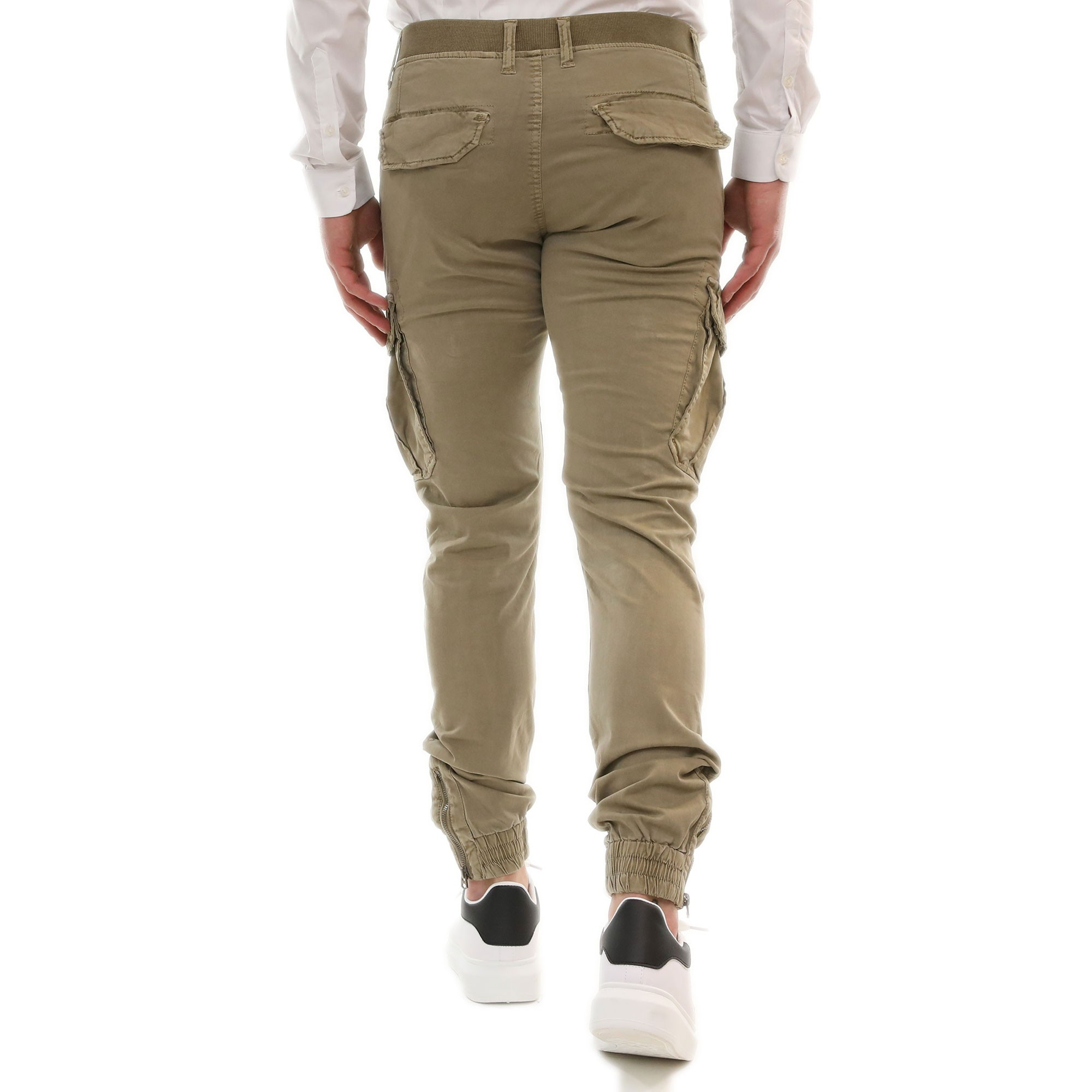 Pantalone-Uomo-Cargo-Primaverile-Con-Tasconi-Verde-Blu-Beige-SlimFit-Pantaloni miniatura 10