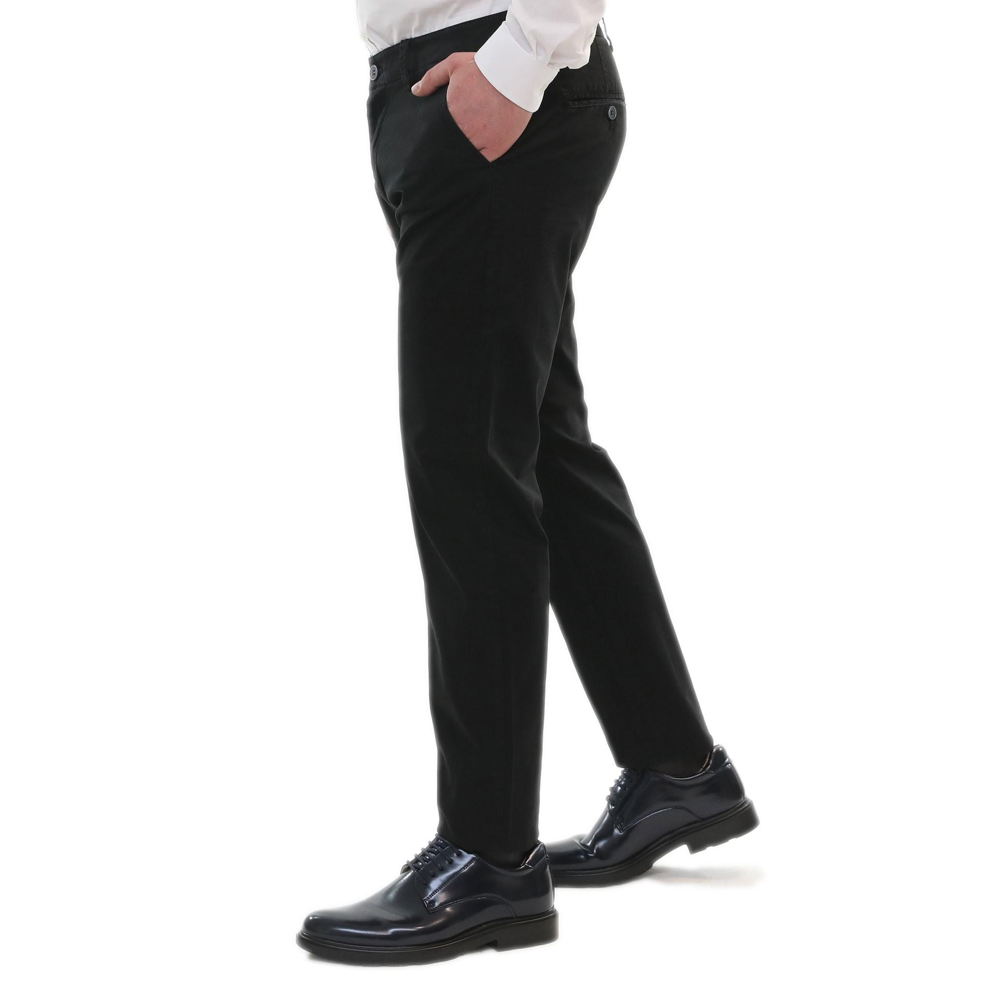 Pantalone-Uomo-Estivo-Cotone-Leggero-Chino-Slim-Fit-Elegante-Tasche-America miniatura 11