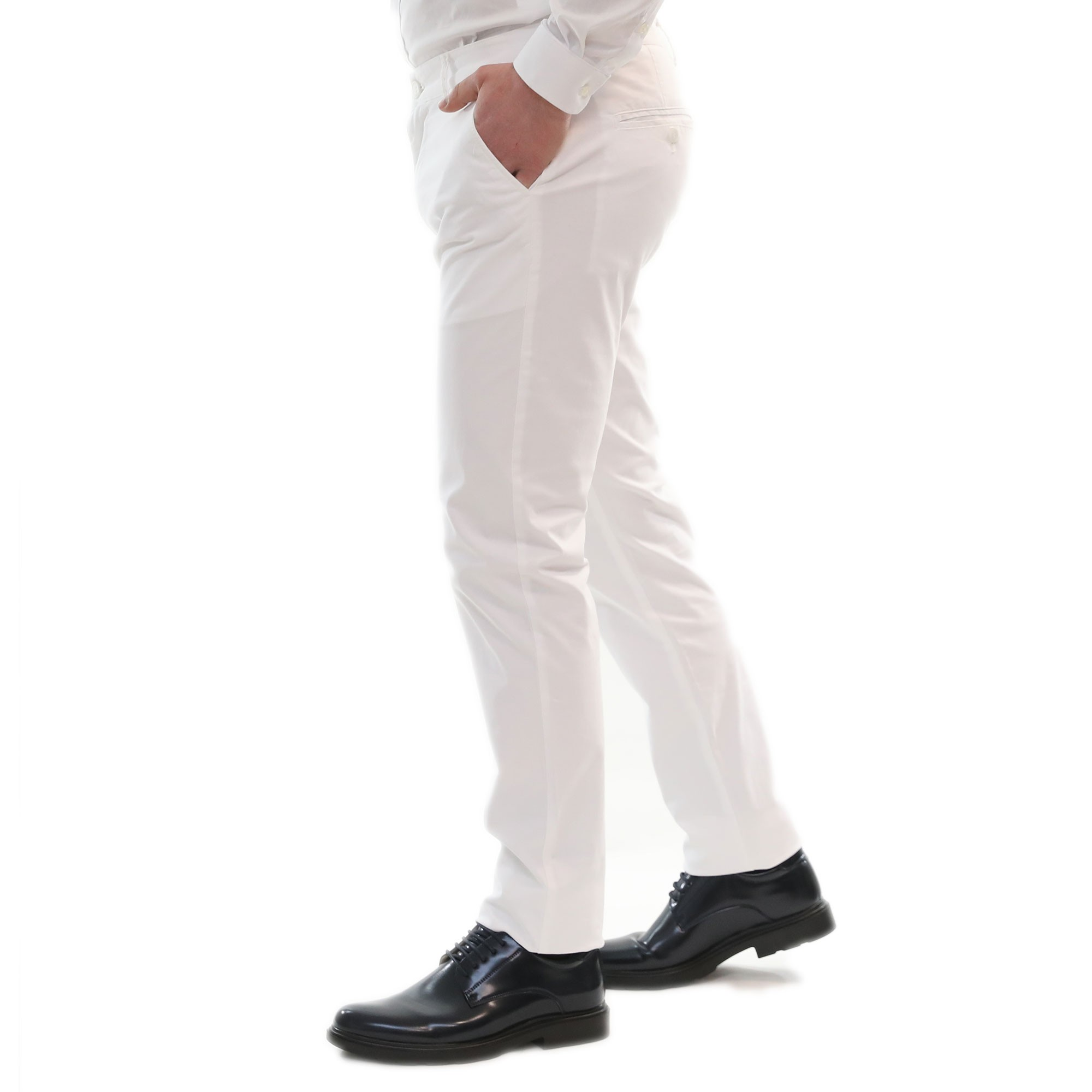 Pantaloni-Uomo-Estivi-Cotone-Chino-Slim-Fit-Elegante-Tasche-America miniatura 15