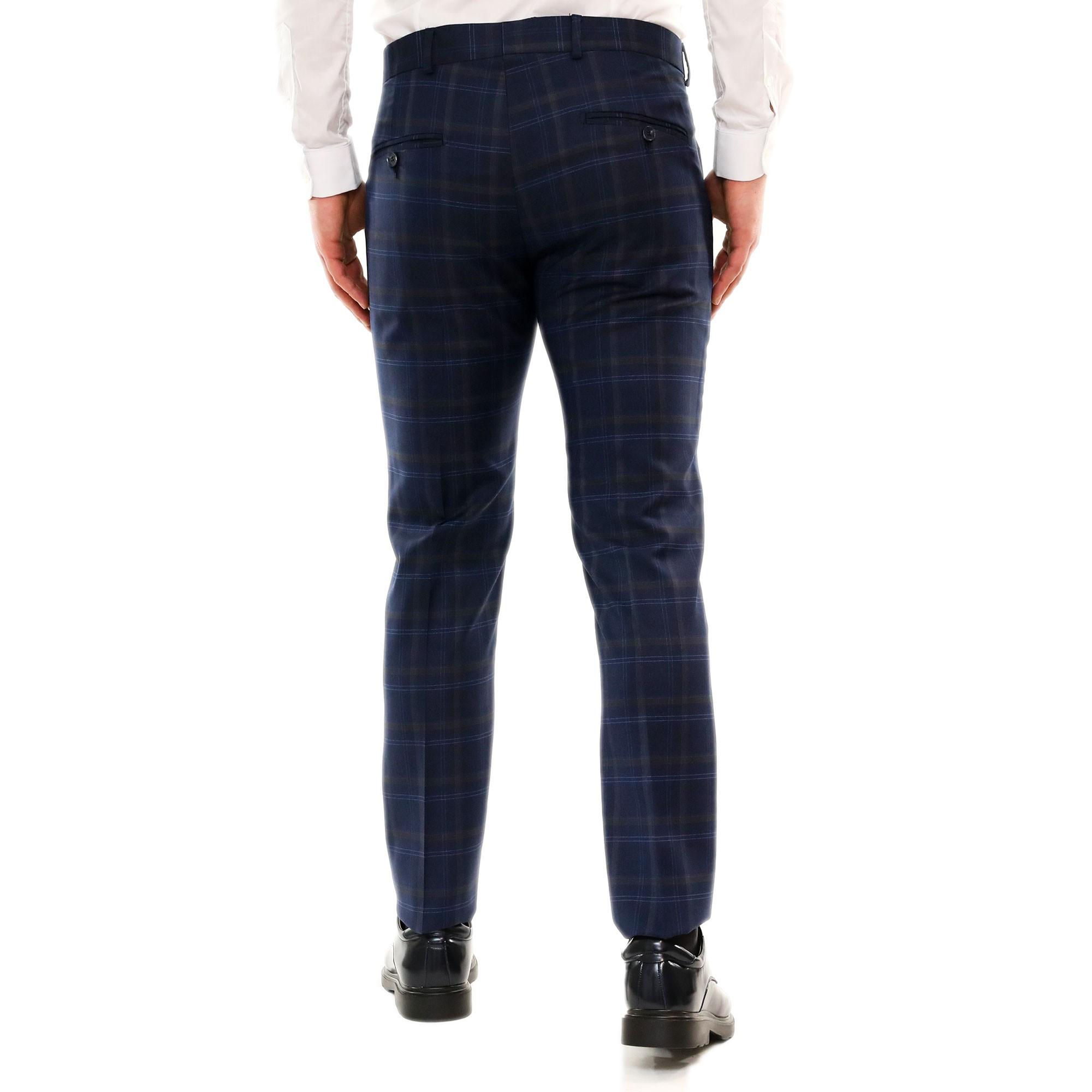 Pantaloni-Uomo-Chino-Cotone-Elegante-Estivi-Abito-Estivo-Tasca-America miniatura 4