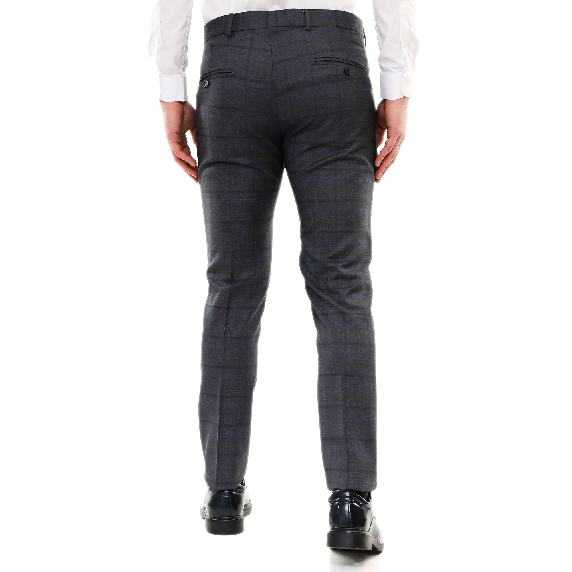 Pantaloni-Uomo-Chino-Cotone-Elegante-Estivi-Abito-Estivo-Tasca-America miniatura 7