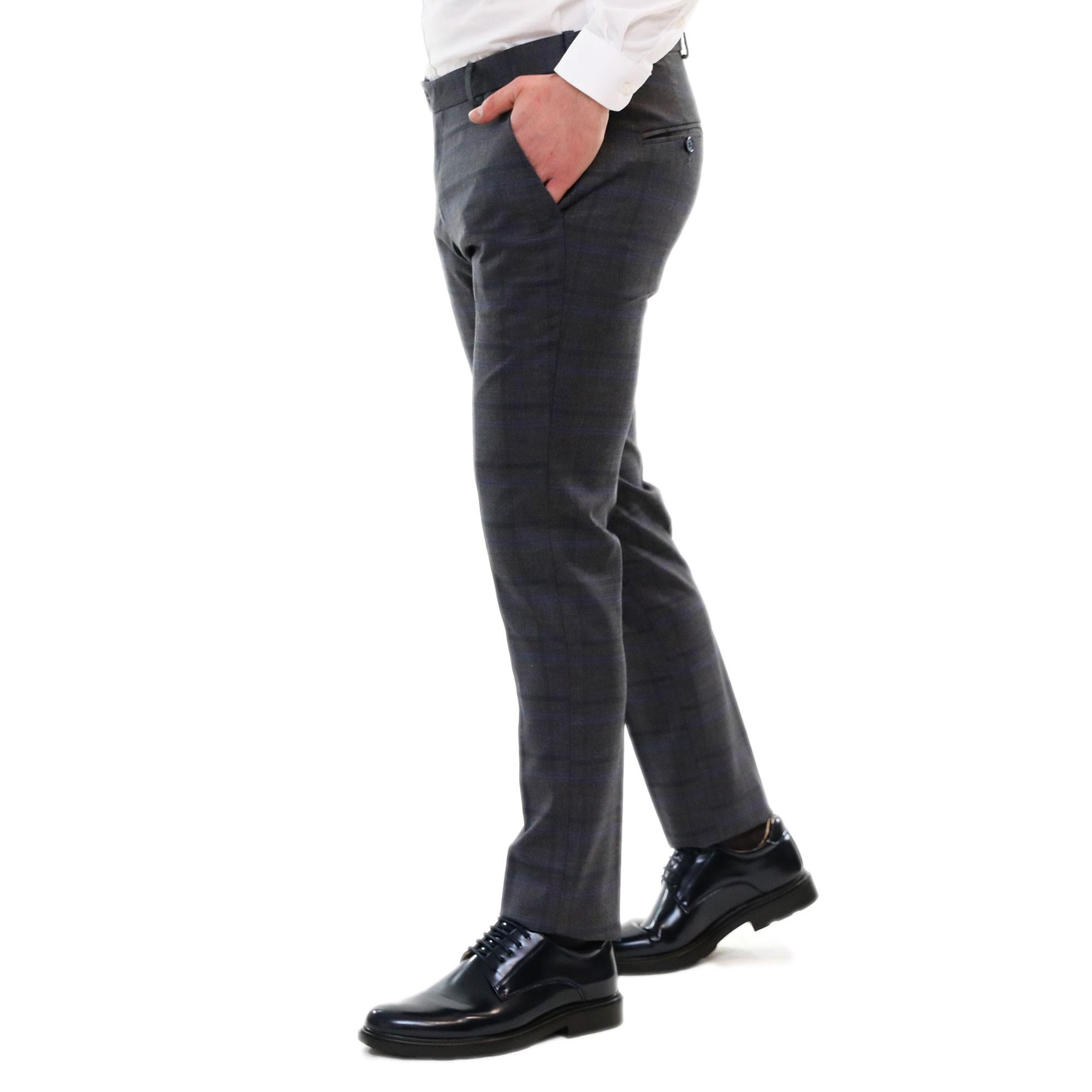 Pantaloni-Uomo-Chino-Cotone-Elegante-Estivi-Abito-Estivo-Tasca-America miniatura 6