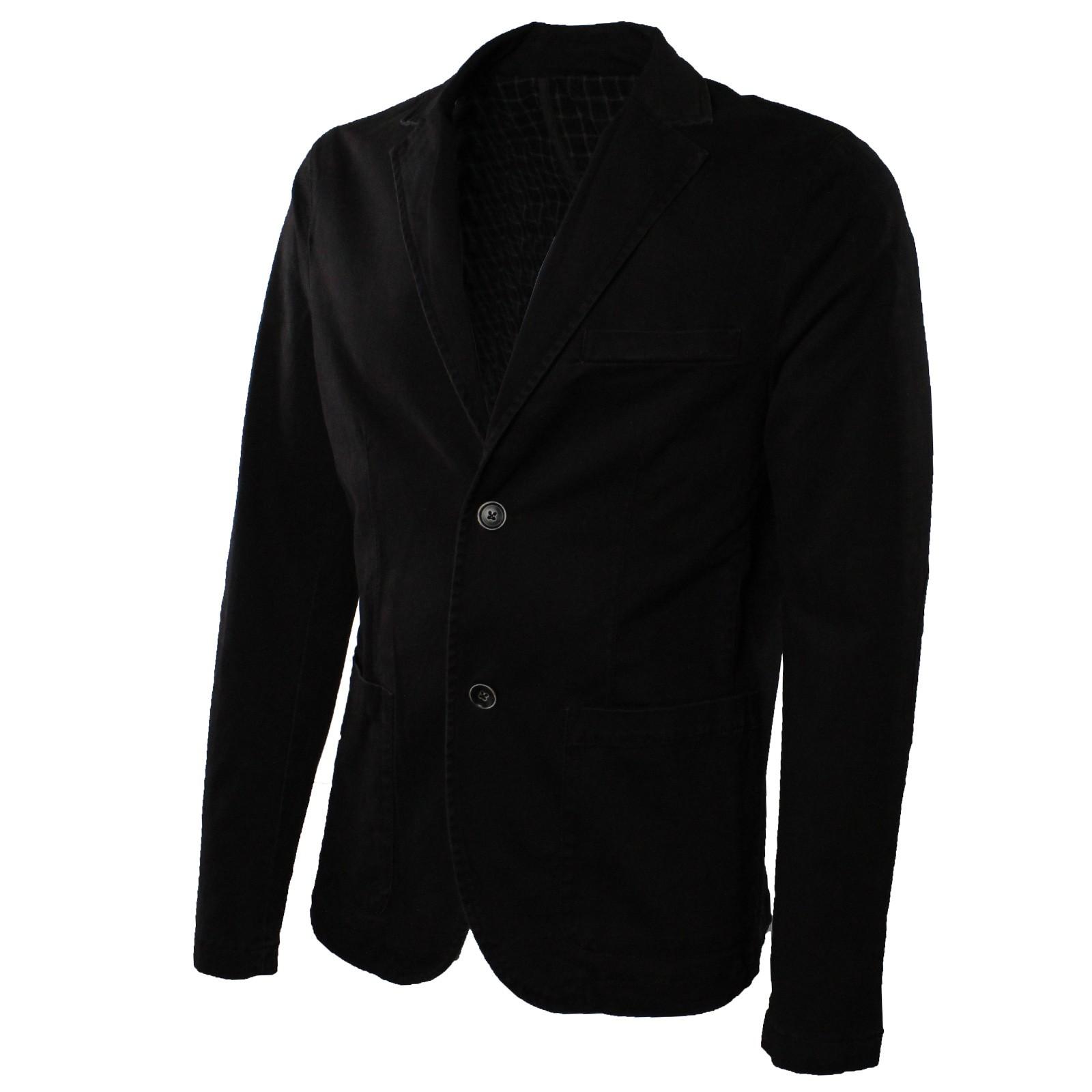 Giacca-Uomo-Elegante-Estiva-Slim-Fit-Blazer-in-Cotone-con-Toppe-Grigio-Sportiva miniatura 8