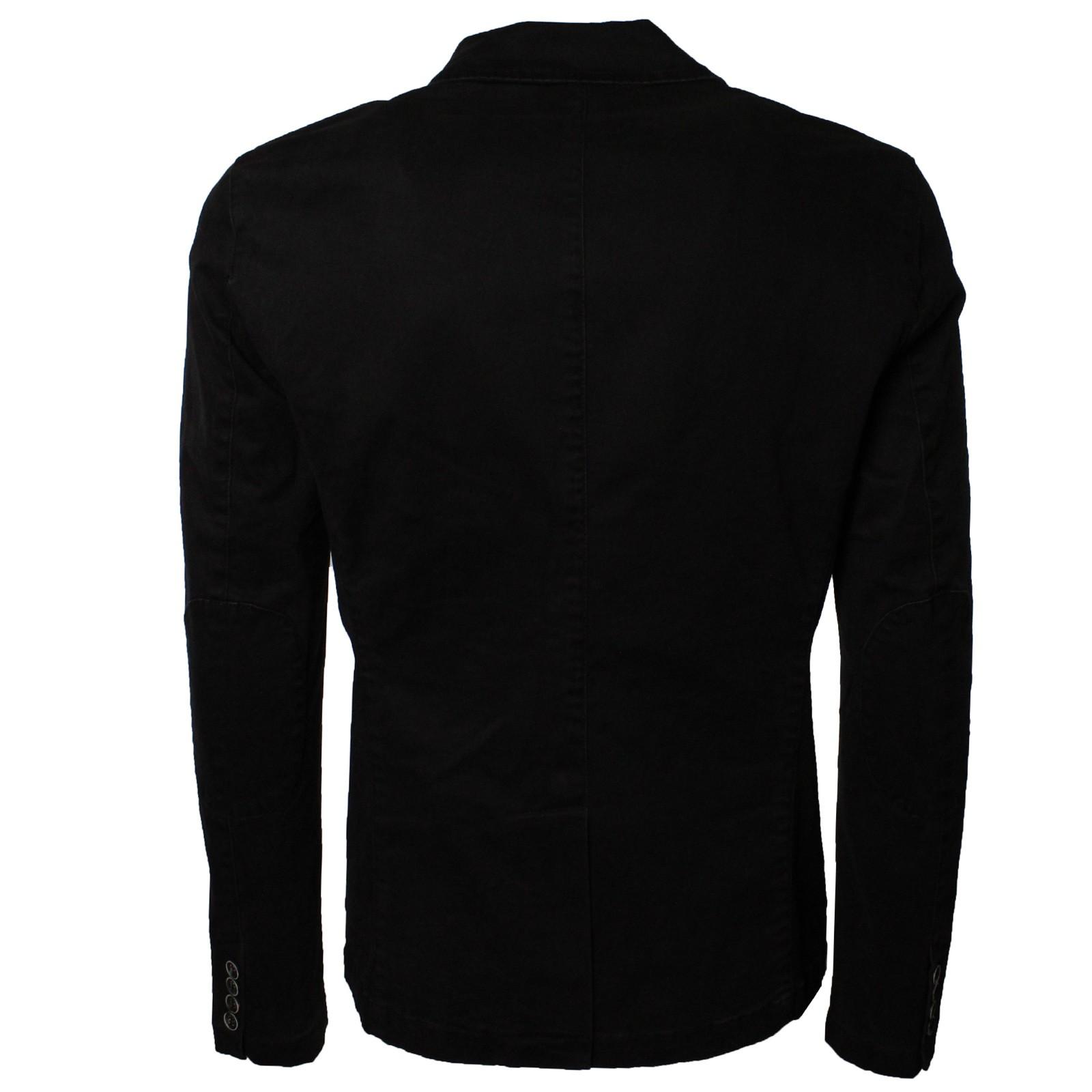 Giacca-Uomo-Elegante-Estiva-Slim-Fit-Blazer-in-Cotone-con-Toppe-Grigio-Sportiva miniatura 9