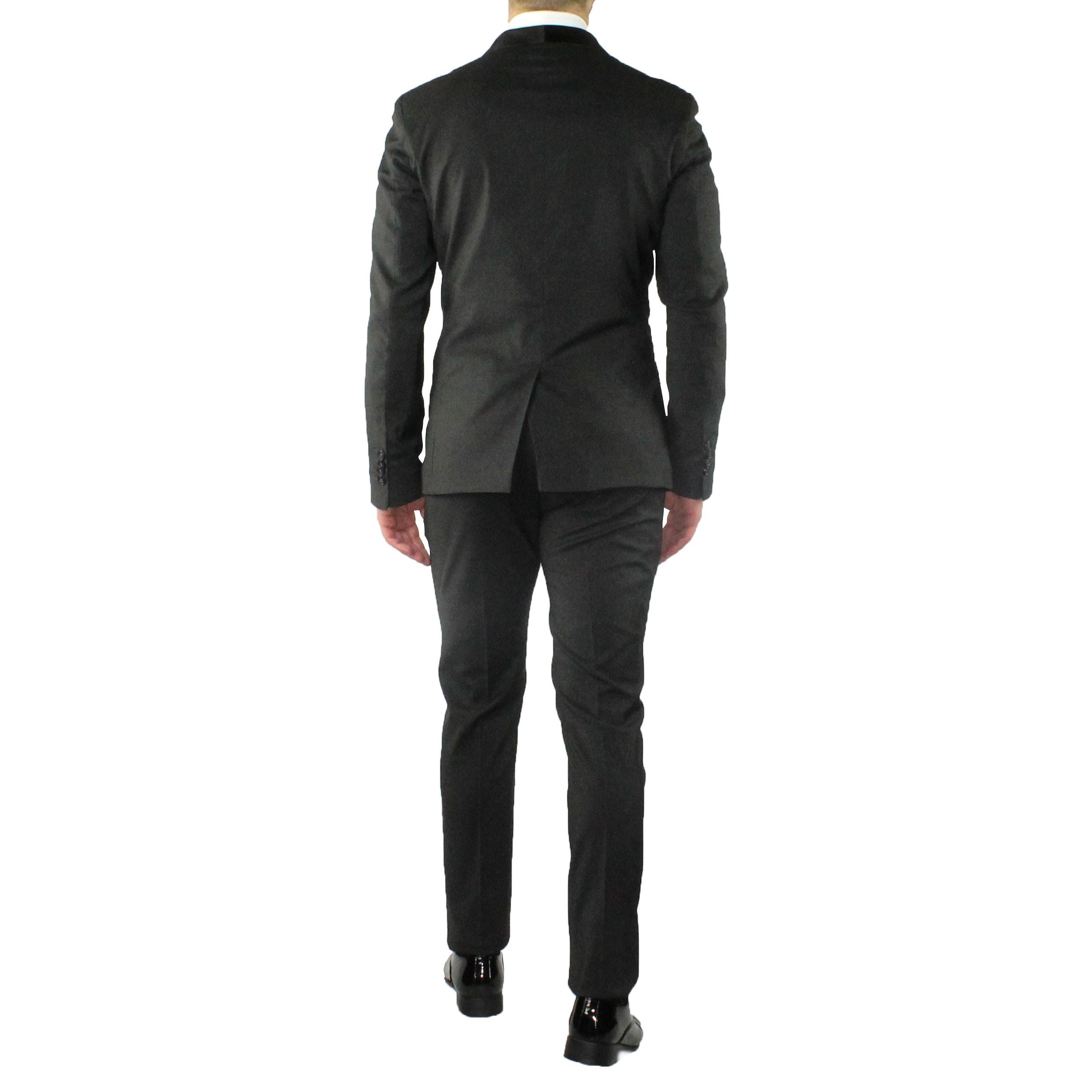 Abito-Uomo-Smoking-Elegante-Vestito-Completo-Estivo-Cerimonia-Sartoriale-Slim miniatura 13