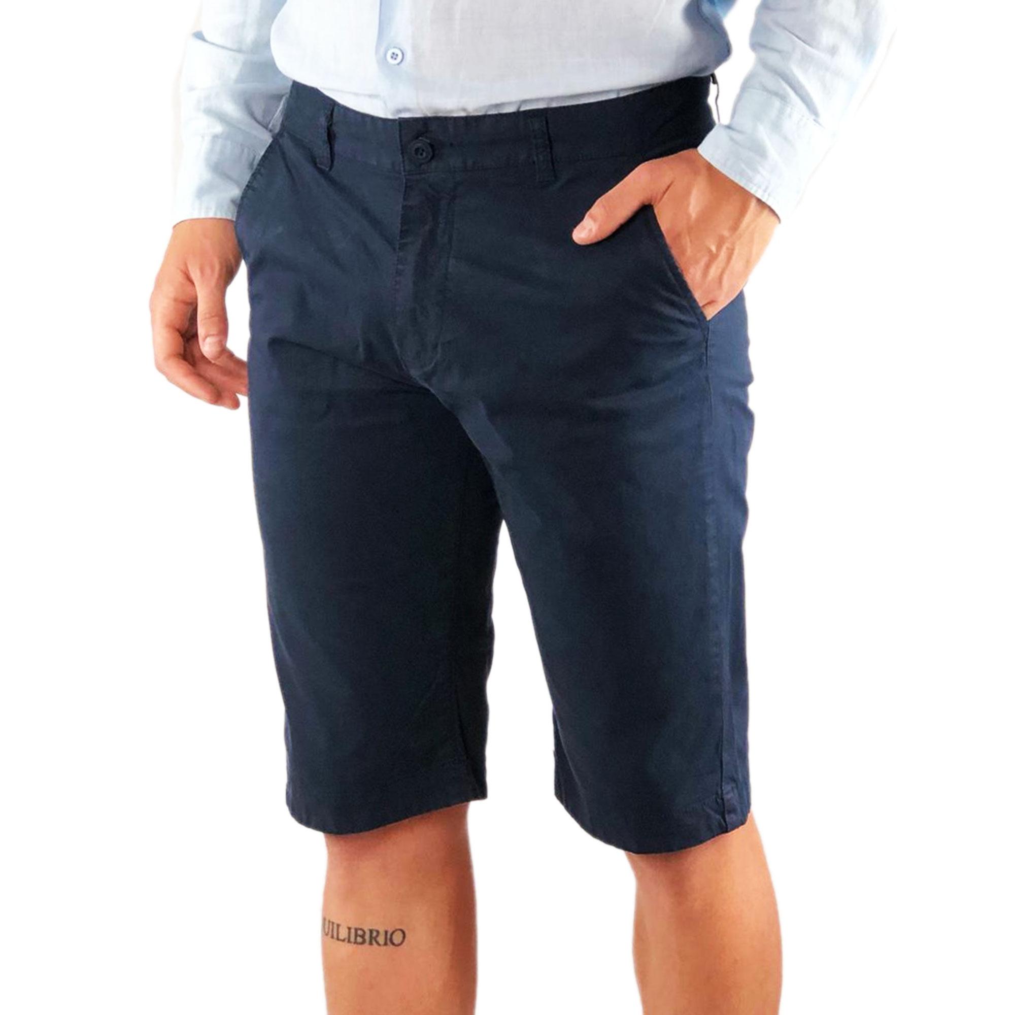 Bermuda-Uomo-Cotone-Slim-Fit-Jeans-Pantalone-Corto-Shorts-Pantaloncini-Casual miniatura 6