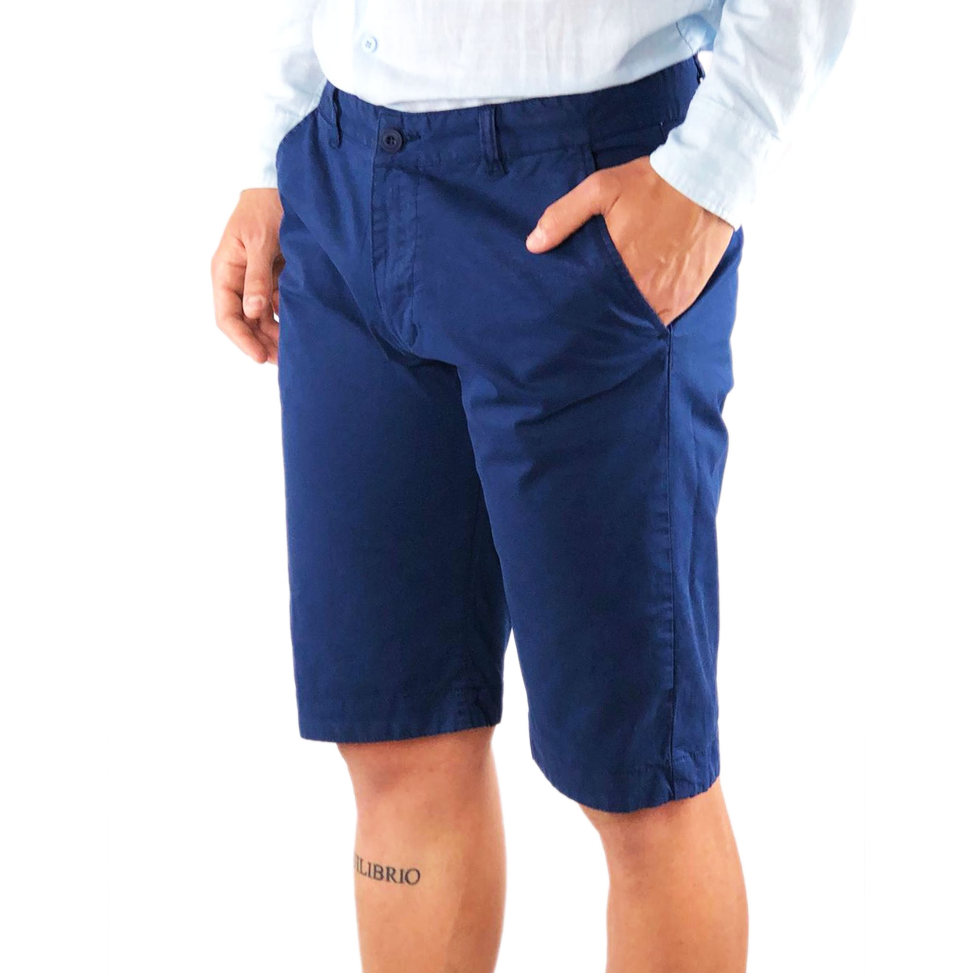 Bermuda-Uomo-Cotone-Slim-Fit-Jeans-Pantalone-Corto-Shorts-Pantaloncini-Casual miniatura 14