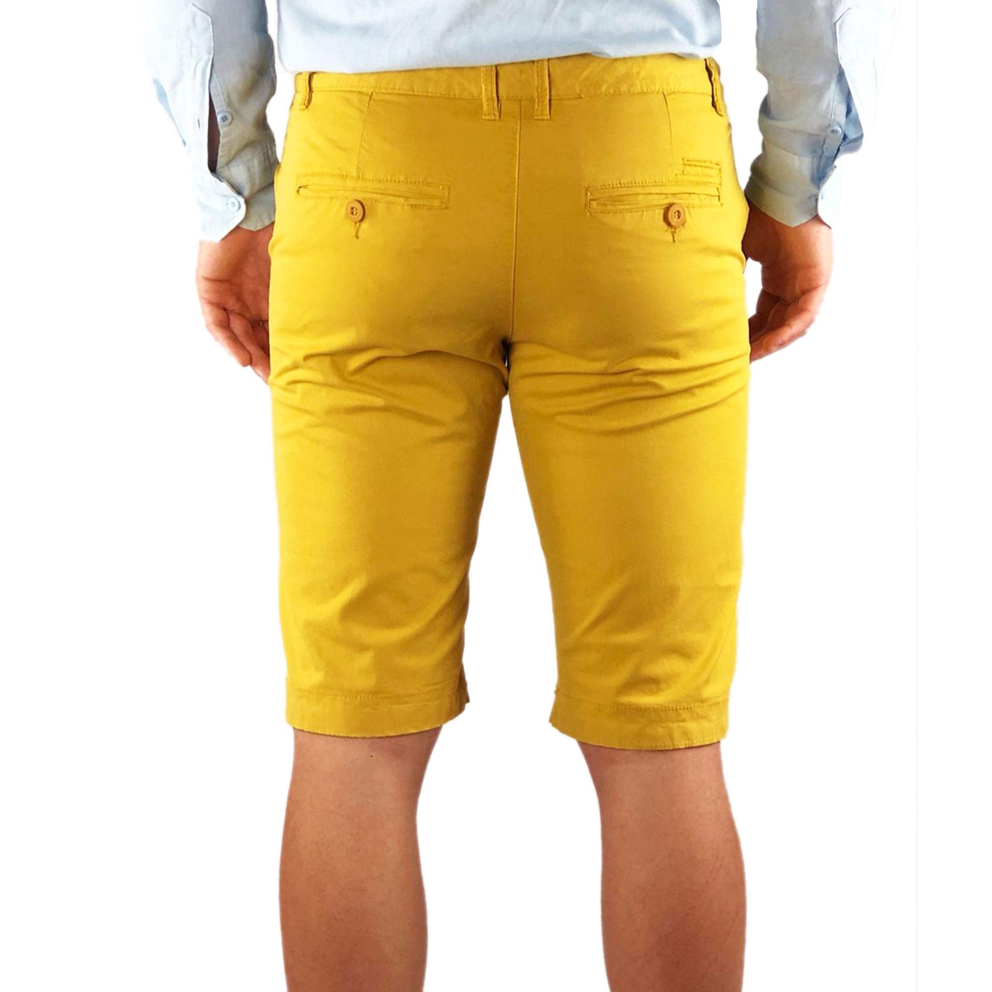 Bermuda-Uomo-Cotone-Slim-Fit-Jeans-Pantalone-Corto-Shorts-Pantaloncini-Casual miniatura 18