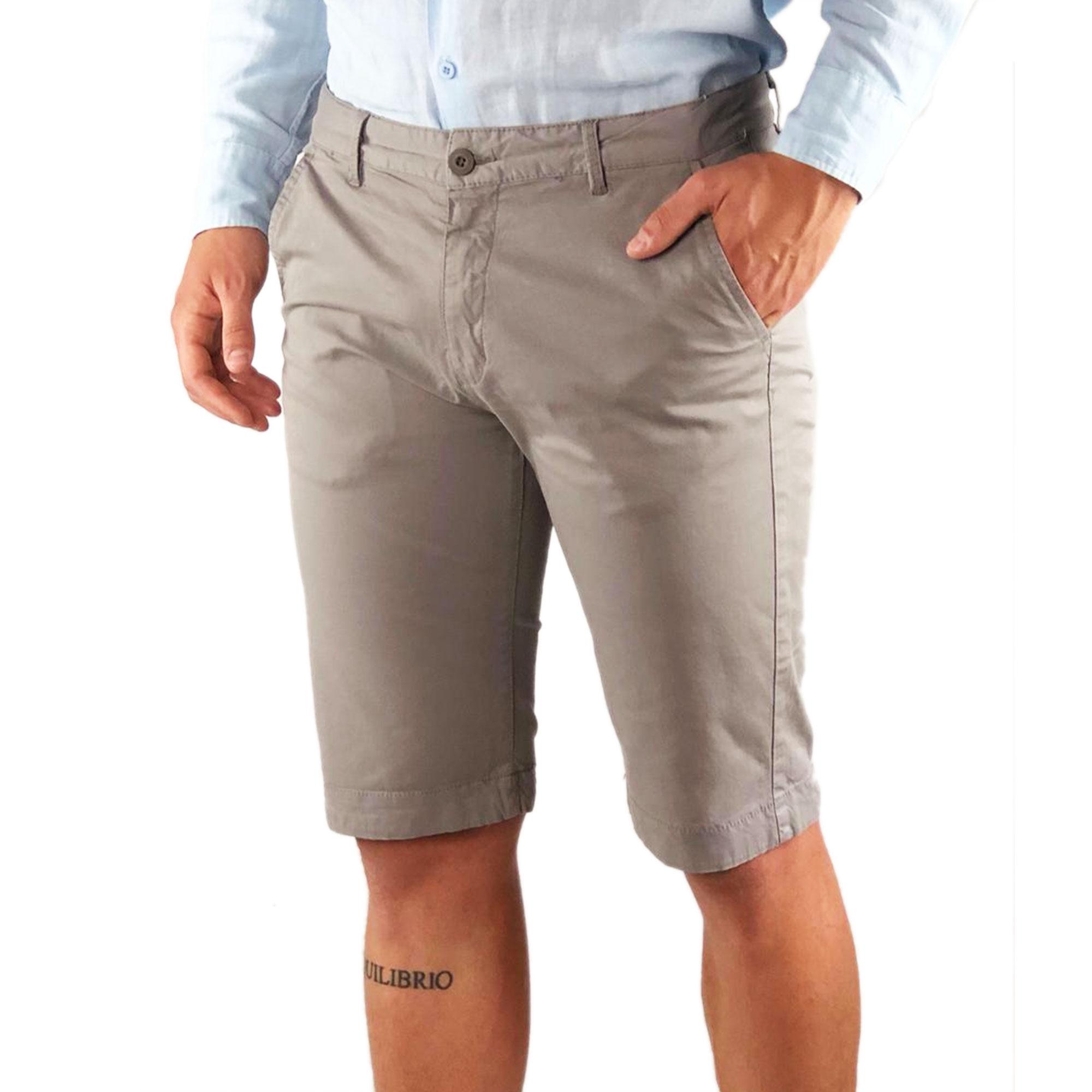 Bermuda-Uomo-Cotone-Slim-Fit-Jeans-Pantalone-Corto-Shorts-Pantaloncini-Casual miniatura 4