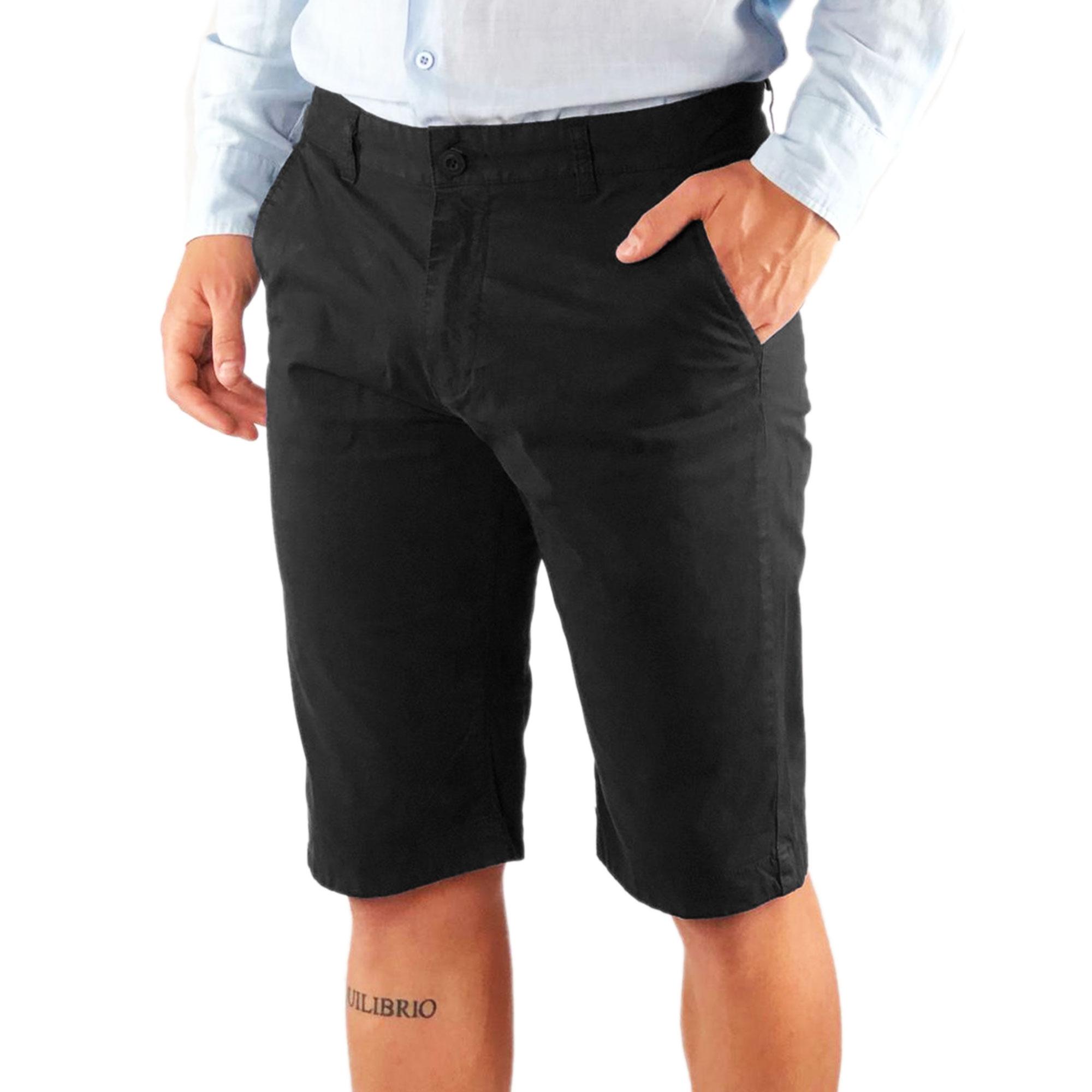 Bermuda-Uomo-Cotone-Slim-Fit-Jeans-Pantalone-Corto-Shorts-Pantaloncini-Casual miniatura 10