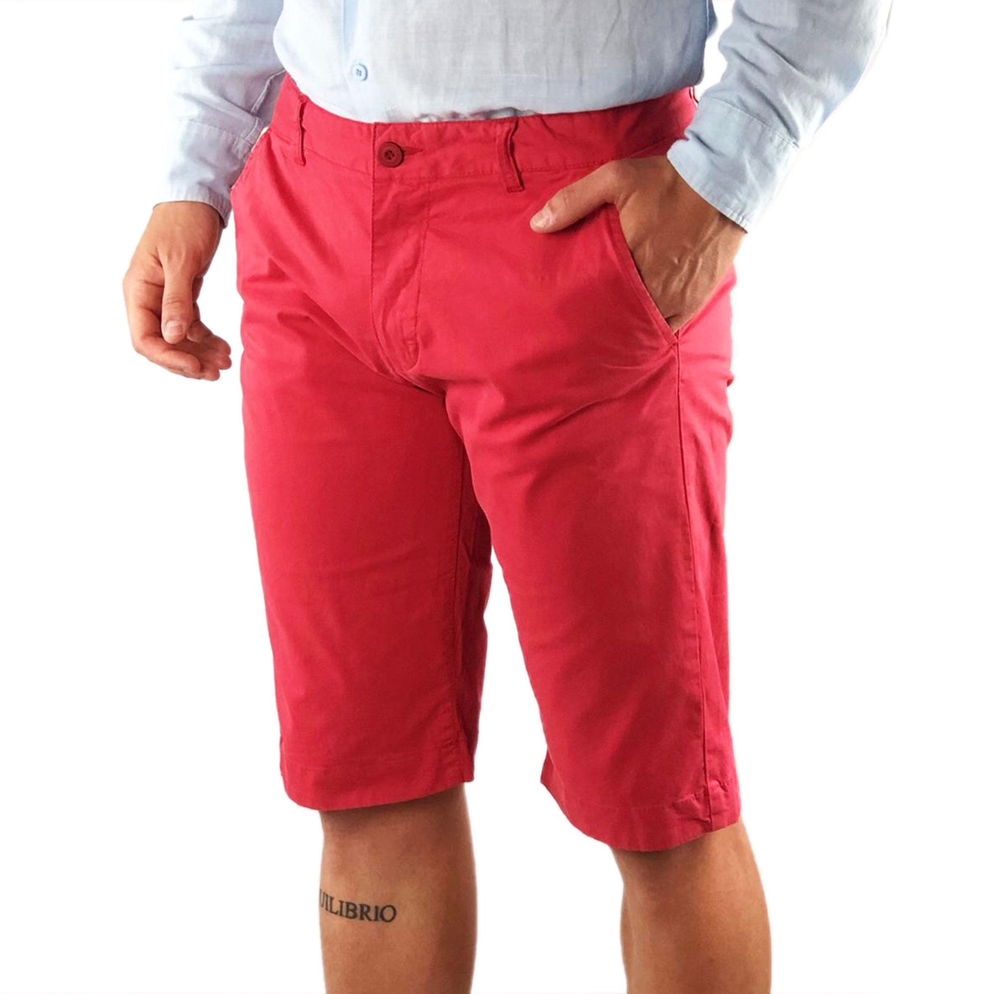 Bermuda-Uomo-Cotone-Slim-Fit-Jeans-Pantalone-Corto-Shorts-Pantaloncini-Casual miniatura 20