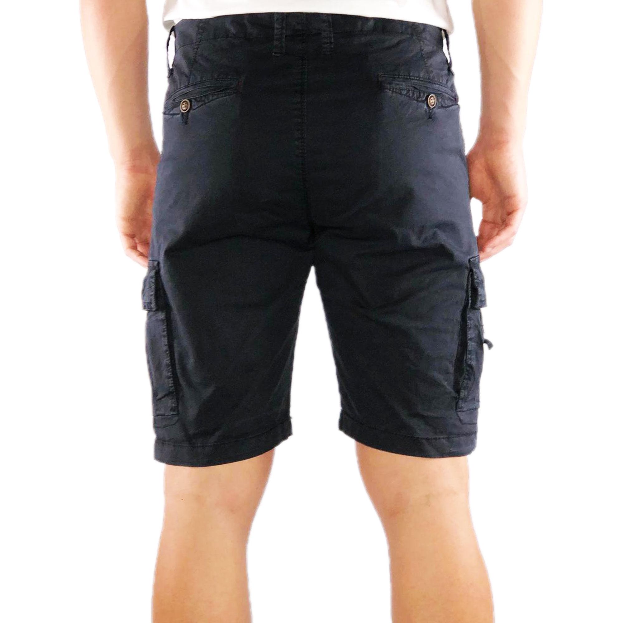 Bermuda-Uomo-Cargo-Cotone-Pantalone-Corto-Jeans-Tasconi-Laterali-Shorts-Casual miniatura 4