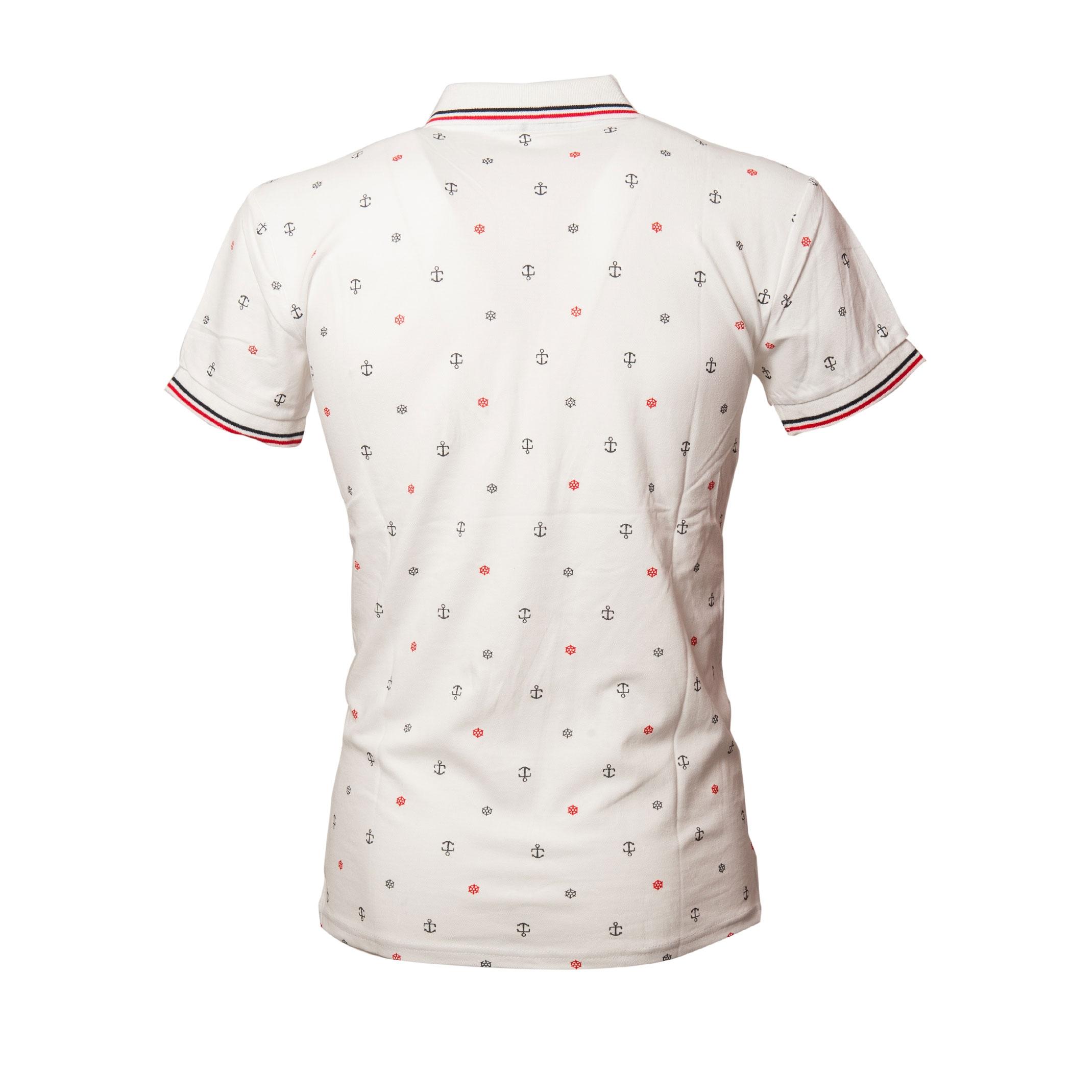Polo-Uomo-Manica-Corta-Cotone-Casual-Maglietta-Slim-Fit-Maglia-Sportiva-T-shirt miniatura 17