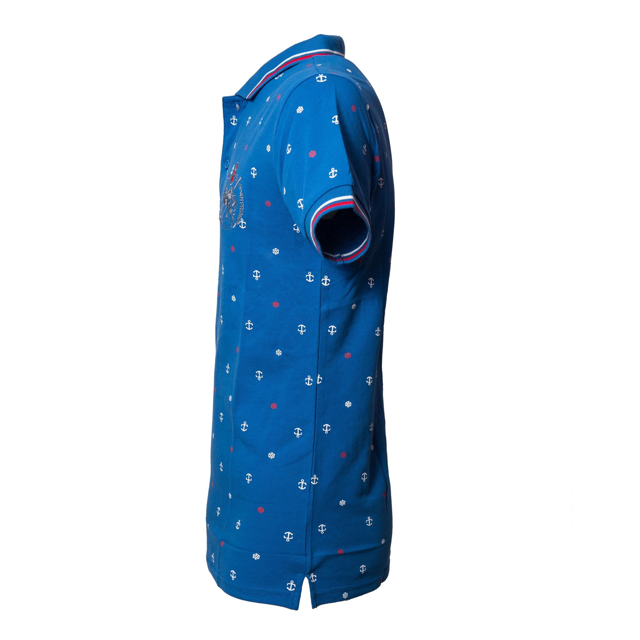 Polo-Uomo-Manica-Corta-Cotone-Casual-Maglietta-Slim-Fit-Maglia-Sportiva-T-shirt miniatura 8