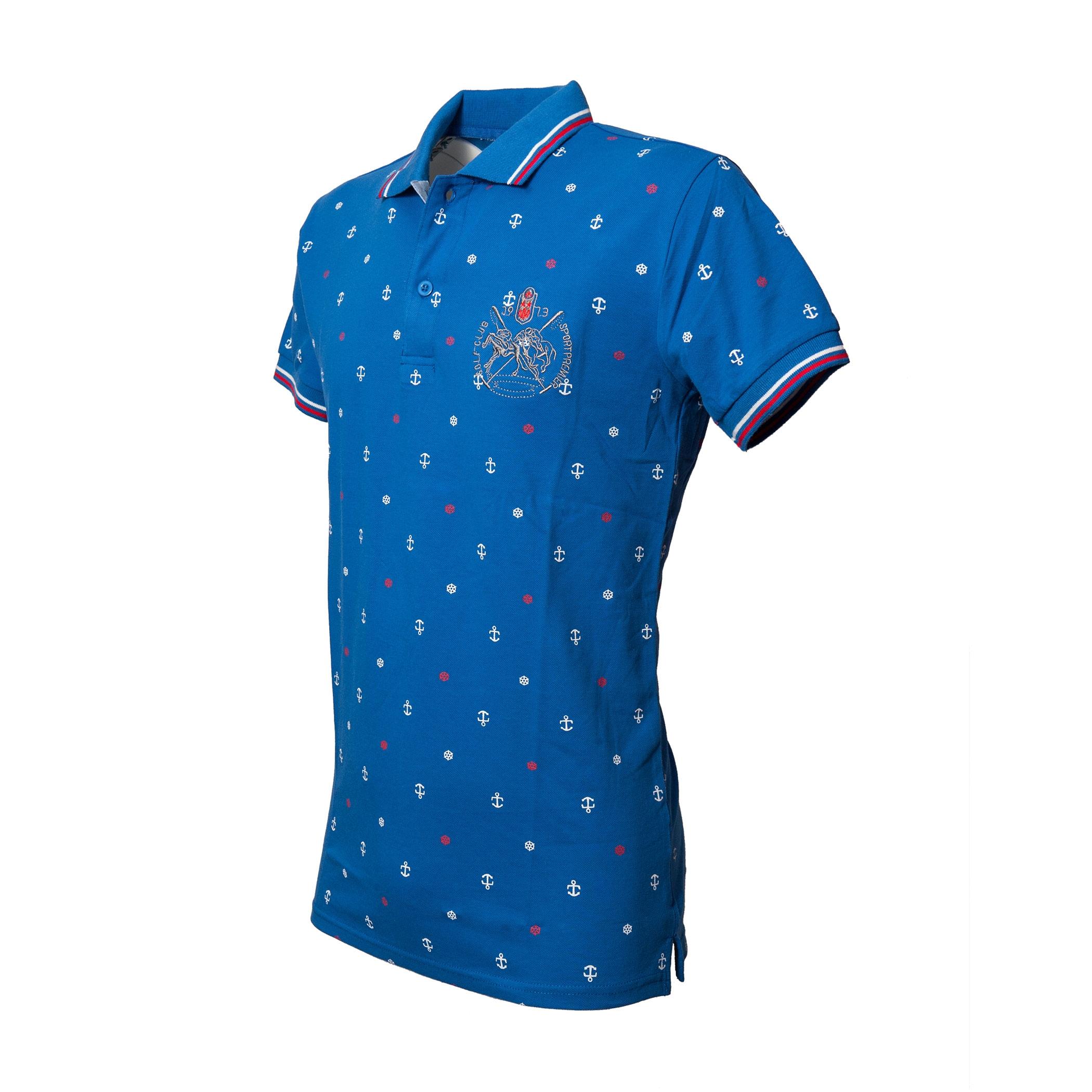 Polo-Uomo-Manica-Corta-Cotone-Casual-Maglietta-Slim-Fit-Maglia-Sportiva-T-shirt miniatura 7