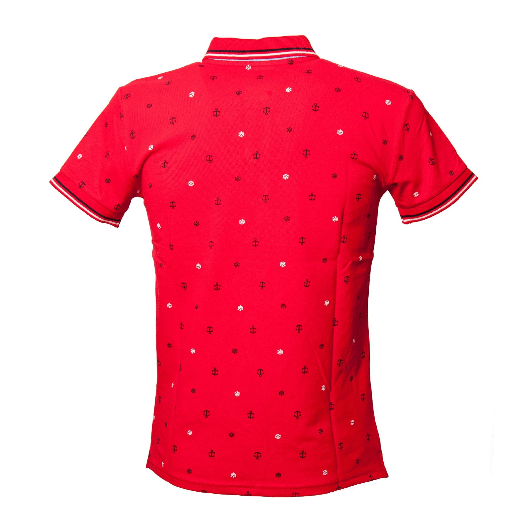 Polo-Uomo-Manica-Corta-Cotone-Casual-Maglietta-Slim-Fit-Maglia-Sportiva-T-shirt miniatura 13