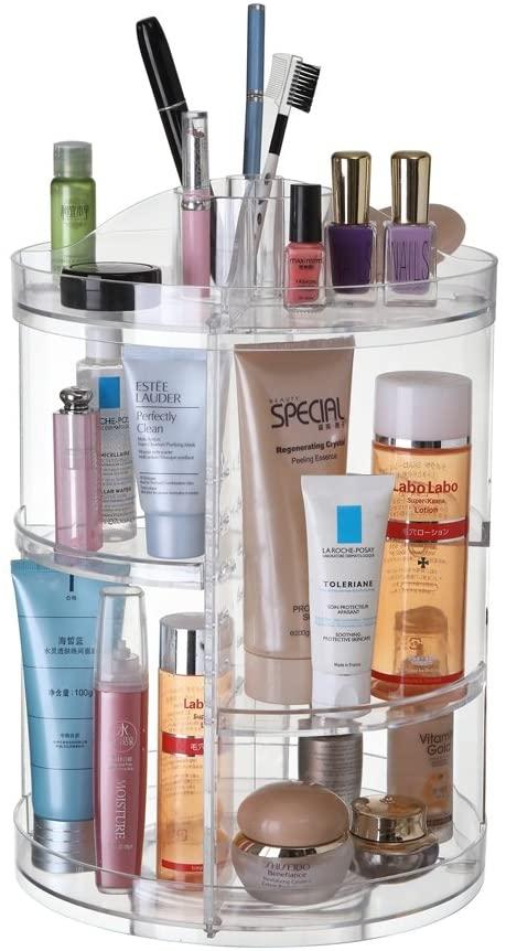 miniatura 2 - Espositore Girevole 360 Gradi Porta Trucco Cosmetici Organizer Make Up