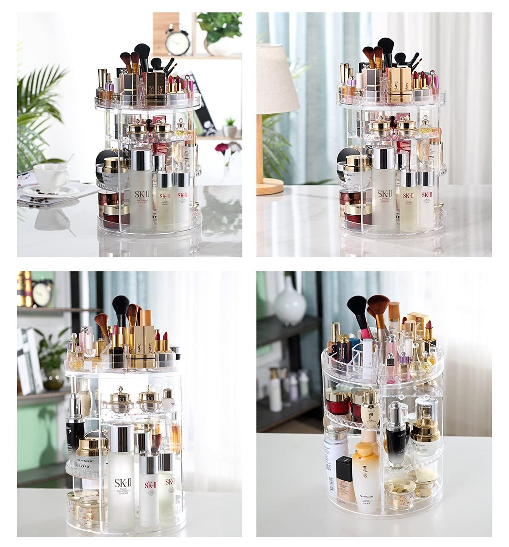 miniatura 4 - Espositore Girevole 360 Gradi Porta Trucco Cosmetici Organizer Make Up