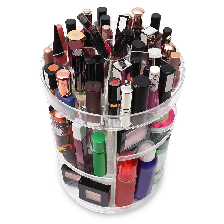 miniatura 5 - Espositore Girevole 360 Gradi Porta Trucco Cosmetici Organizer Make Up
