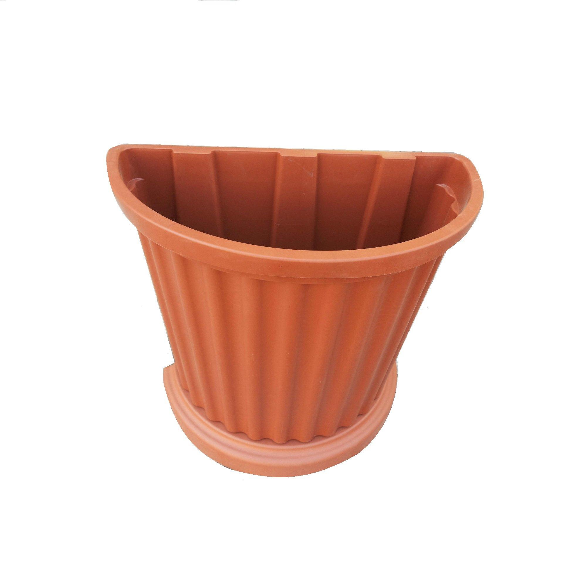 Produttori Vasi In Plastica.Vaso A Parete Plastica Marrone Muro Mezzaluna Fiori Piante Esterno