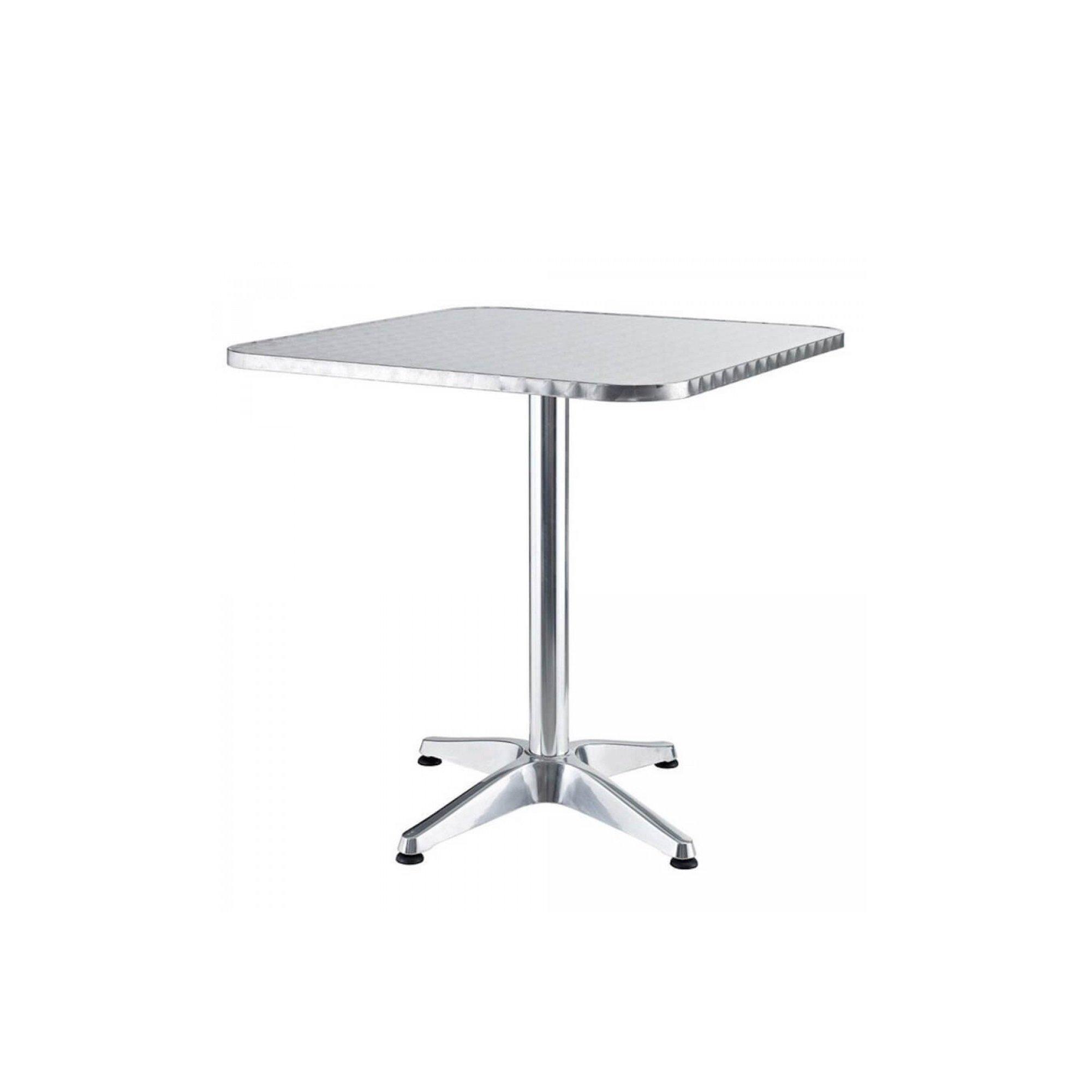Tavolo Con Piede Centrale dettagli su tavolo tavolino quadrato con piede centrale per bar bistrot in  alluminio 60 x 60
