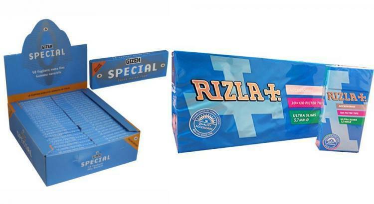 4800 FILTRI 5,5MM RIZLA ULTRASLIM 2box 5000 CARTINE RIZLA CORTE BLU=1box