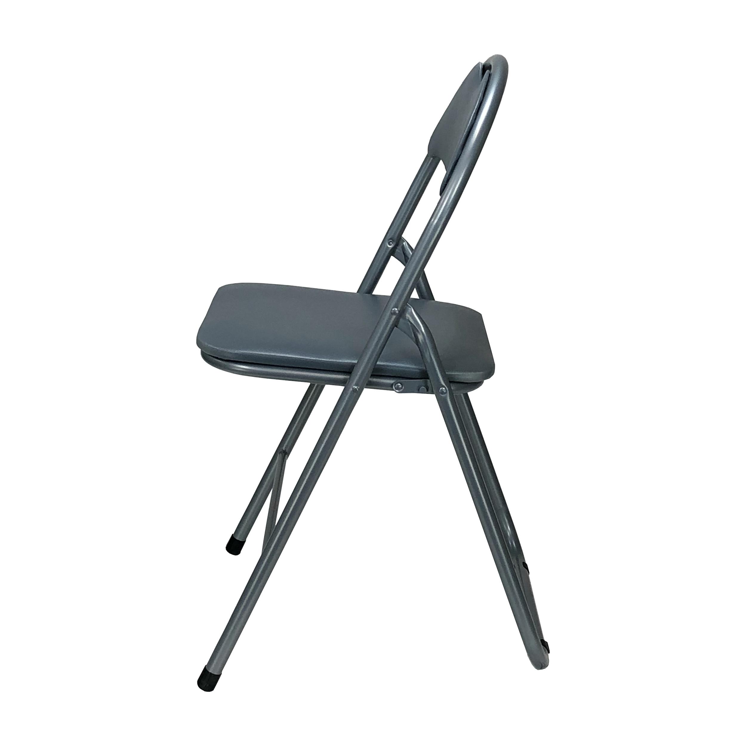 Sedia Pieghevole In Metallo Imbottita Ecopelle Design Salvaspazio Vari Colori Ebay