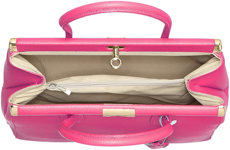 miniatura 15 - Chicca Borse Borsa in vera pelle Made in Italy borsa a mano 35x28x16 8005