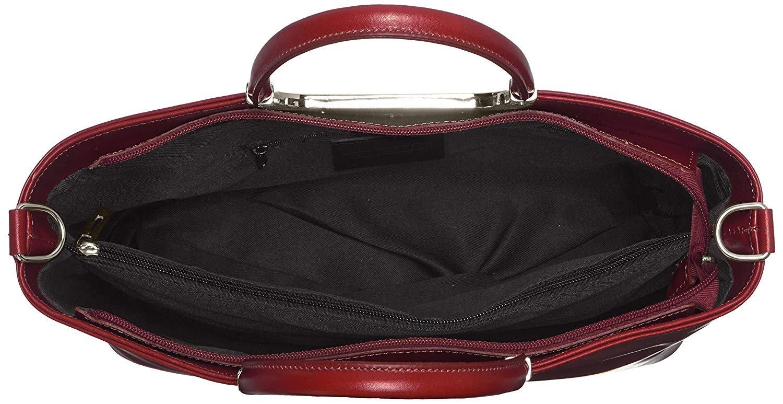 miniatura 27 - Chicca Borse Borsa in vera pelle Made in Italy borsa a mano 35x28x16 8005
