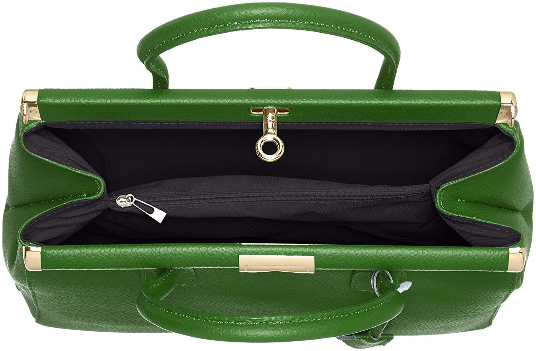 miniatura 33 - Chicca Borse Borsa in vera pelle Made in Italy borsa a mano 35x28x16 8005