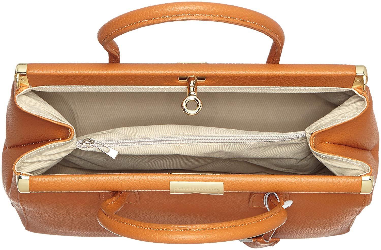 miniatura 81 - Chicca Borse Borsa in vera pelle Made in Italy borsa a mano 35x28x16 8005