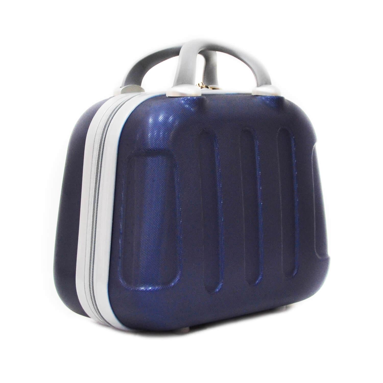 miniatura 3 - Beauty Case per Uomo Donna Rigido da Viaggio Piccolo Grande Nero Blu Grigio Abs
