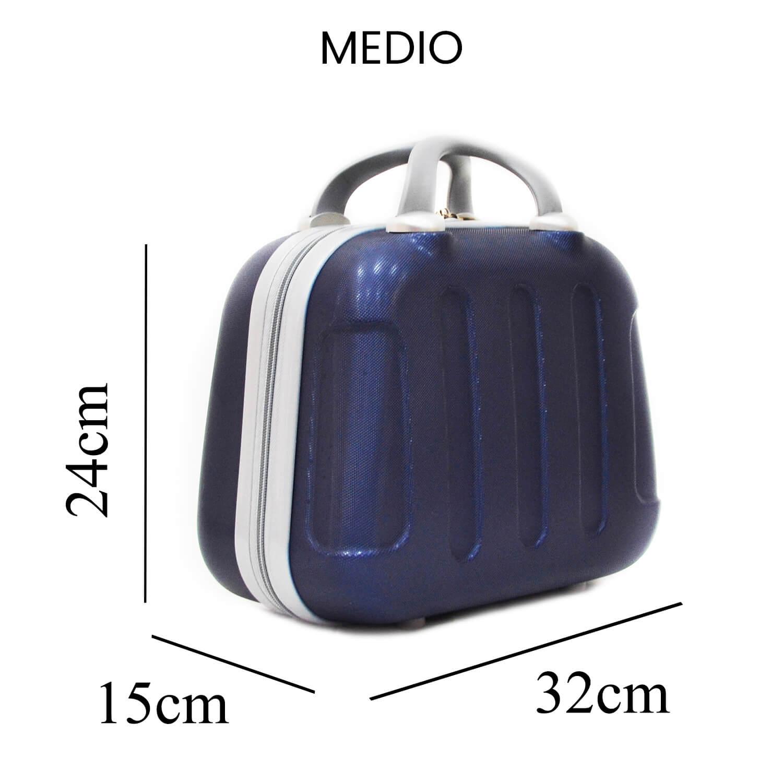miniatura 8 - Beauty Case per Uomo Donna Rigido da Viaggio Piccolo Grande Nero Blu Grigio Abs