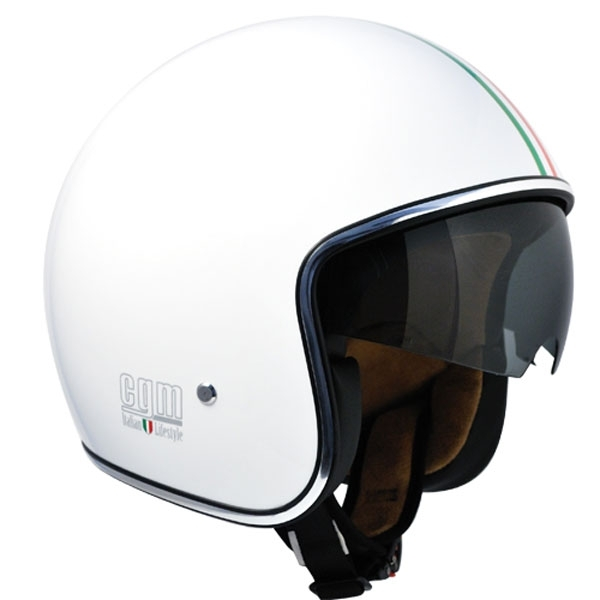 bianco metal per Scooter e Moto Casco Demi-Jet Open Face CGM 101G OREGON