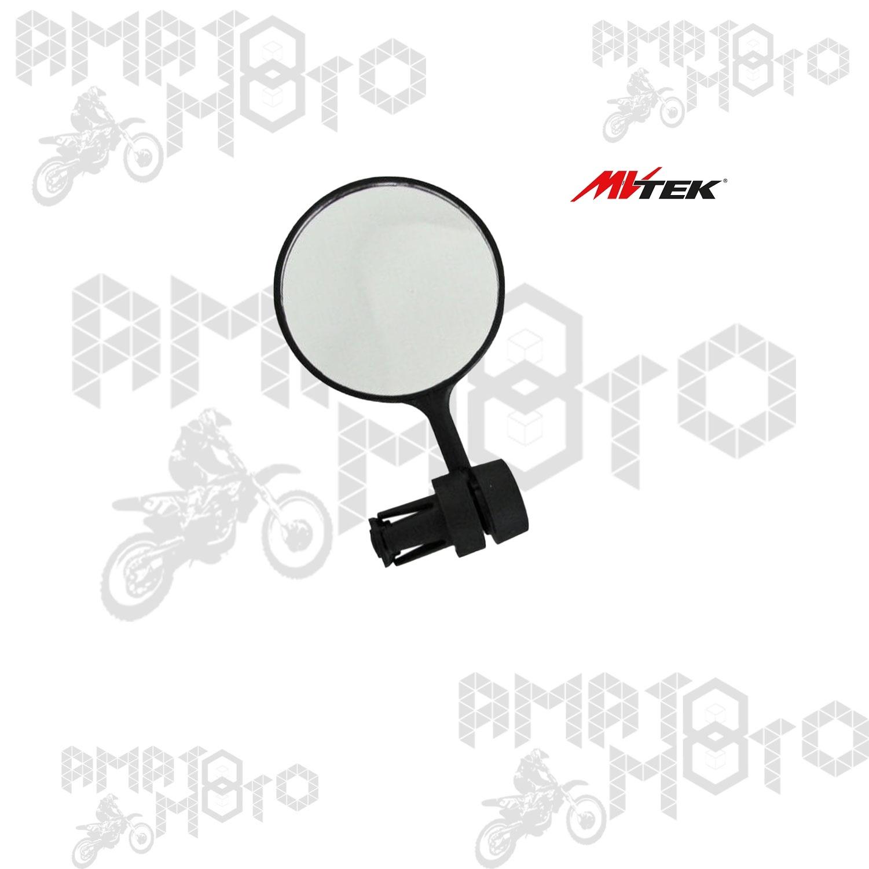 specchio retrovisore rotondo nero attacco manubrio 307450025 MV-TEK bici