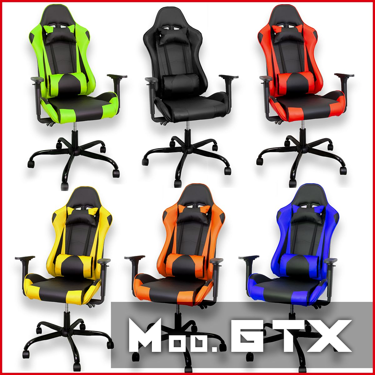 miniatura 6 - Sedia Poltrona da Gaming per Ufficio reclinabile Imbottita ergonomica GTX RTX