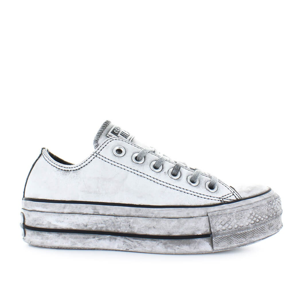 2converse all star platform grigio
