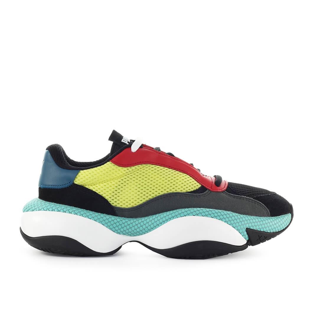 Herrenschuhe Puma Alteration Kurve Black Lime Sneaker SS