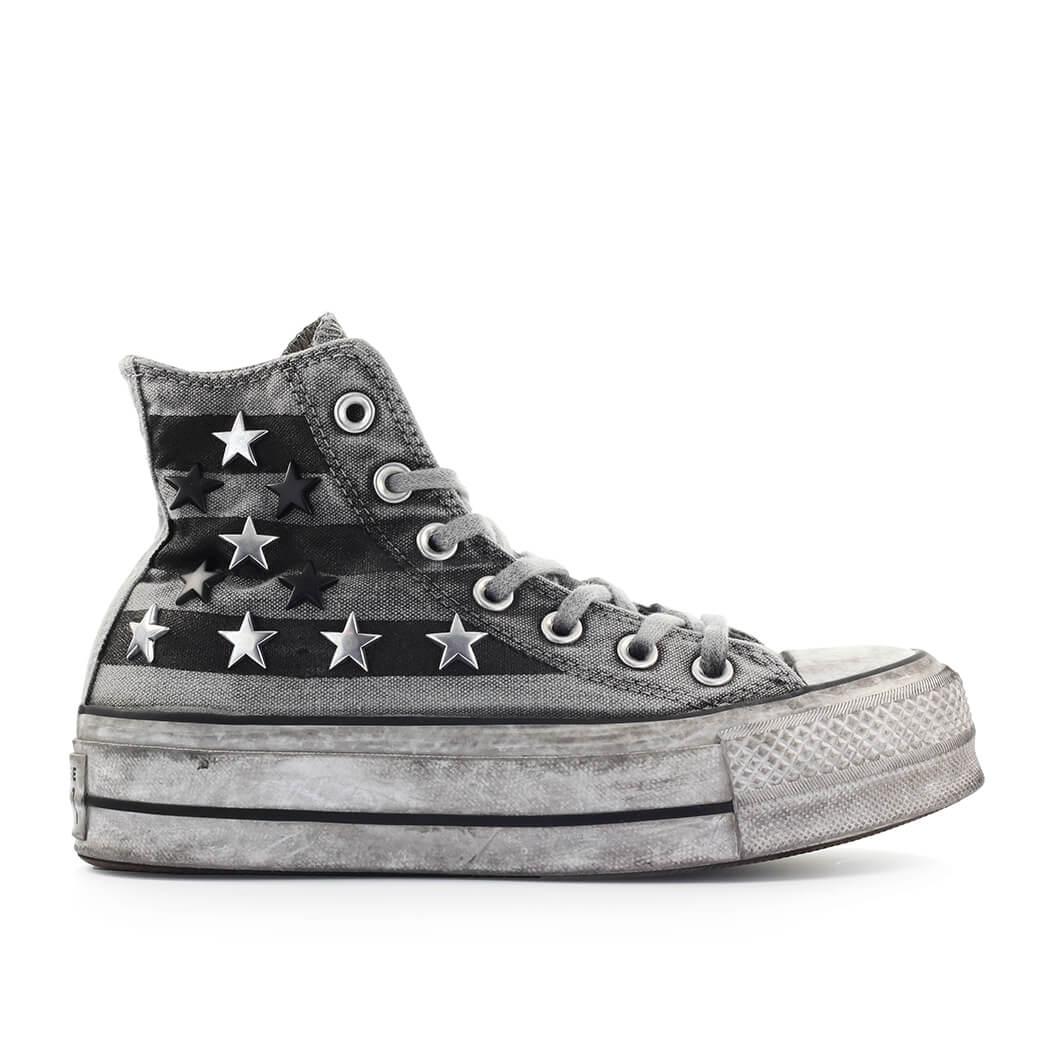 zapatillas all star con estrellas