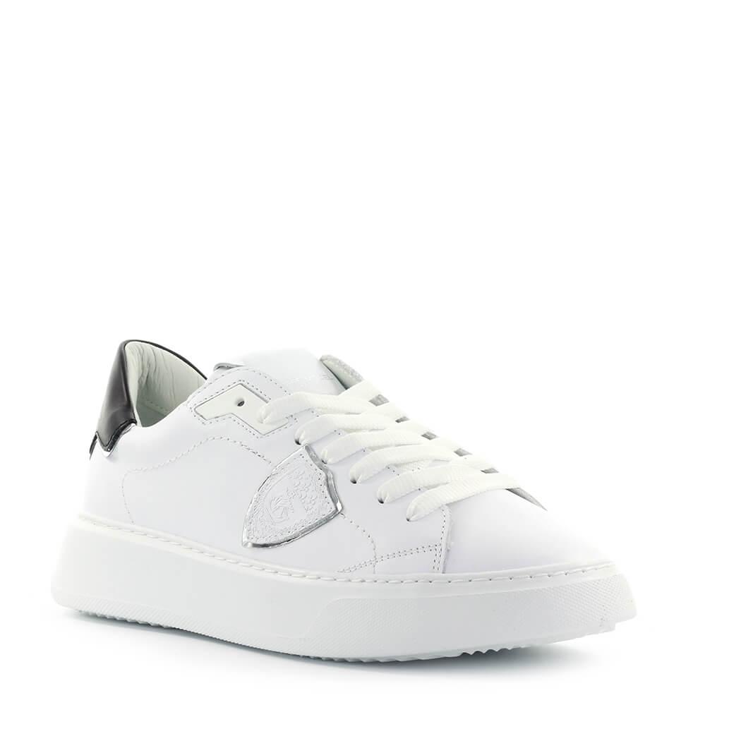 Scarpe-da-Donna-Sneaker-Temple-Bianco-Nero-Philippe-Model-FW2020 miniatura 2