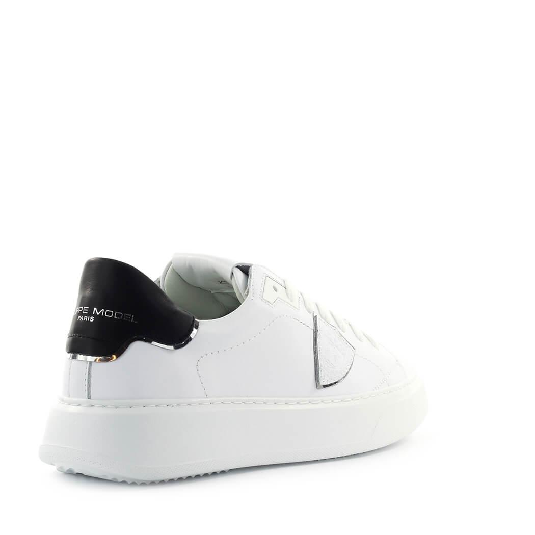 Scarpe-da-Donna-Sneaker-Temple-Bianco-Nero-Philippe-Model-FW2020 miniatura 3