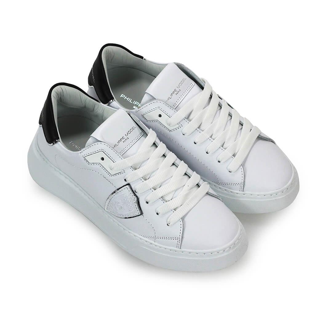 Scarpe-da-Donna-Sneaker-Temple-Bianco-Nero-Philippe-Model-FW2020 miniatura 5