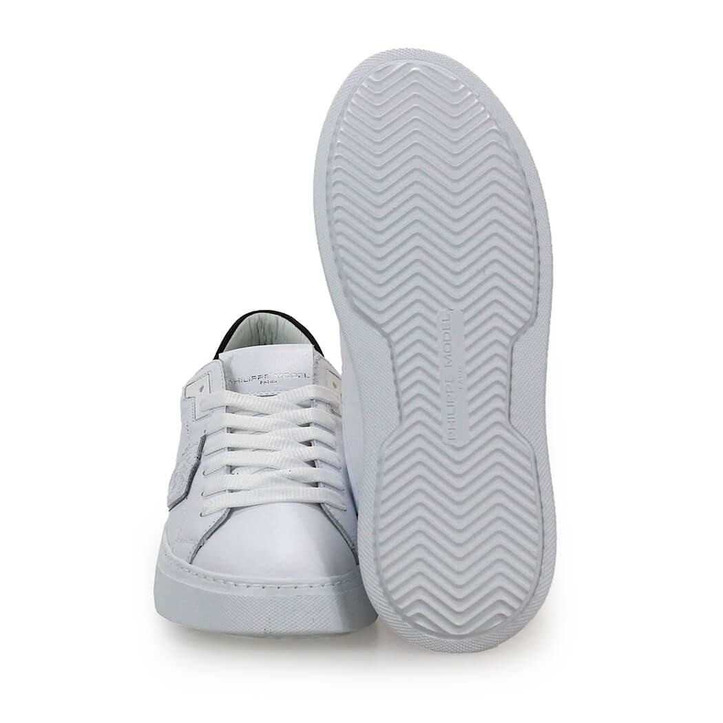 Scarpe-da-Donna-Sneaker-Temple-Bianco-Nero-Philippe-Model-FW2020 miniatura 4