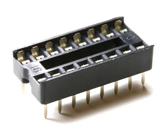 ICs Sockets Fassung Support 5x Zoccoli DIP16 per integrati passo 2,54mm