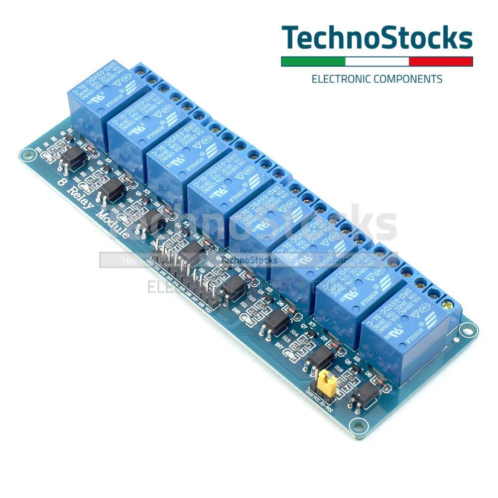 Elektrische En Testapparatuur Scheda Modulo 8 Relè 5 Vdc 10a