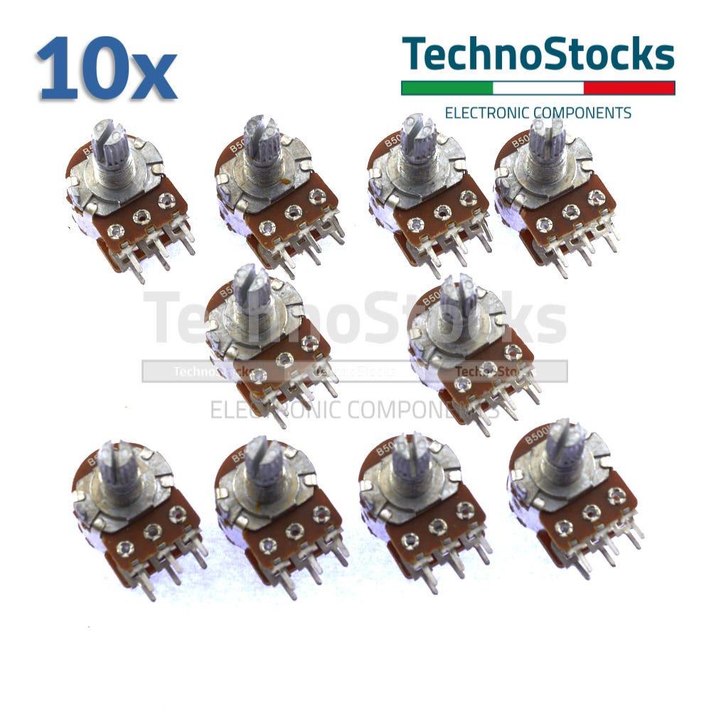 Potentiometers B500K 10x Potenziometro 500 Kohm Monogiro Lineare Trimmer