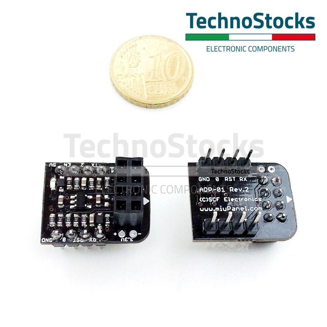 5V ADP-01 Adattatore per ESP-01 ESP8266 Breadboard Adapter Level Converter 3.3V